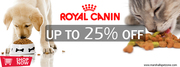 Price Drop! 25%Off:Royal Canin Pet Food + Free Samples